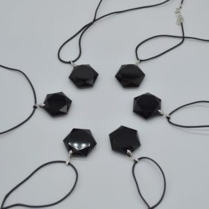 Shop Obsidian Pendants! Natural Mexico Black Obsidian 'Star of David' Semi-precious Gemstone Hexagon Pendant – Approx 3cm – 3.5cm | Natural genuine Obsidian pendants. Buy crystal jewelry, handmade handcrafted artisan jewelry for women.  Unique handmade gift ideas. #jewelry #beadedpendants #beadedjewelry #gift #shopping #handmadejewelry #fashion #style #product #pendants #affiliate #ad