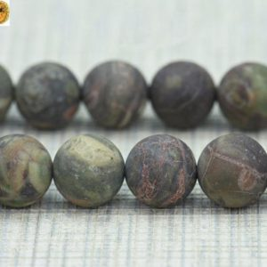 Shop Ocean Jasper Beads! Ocean Jasper,15 inch full strand Ocean Jasper matte round beads,frosted beads,Mixedcolor 6mm 8mm 10mm 12mm for Choice | Natural genuine beads Ocean Jasper beads for beading and jewelry making.  #jewelry #beads #beadedjewelry #diyjewelry #jewelrymaking #beadstore #beading #affiliate #ad