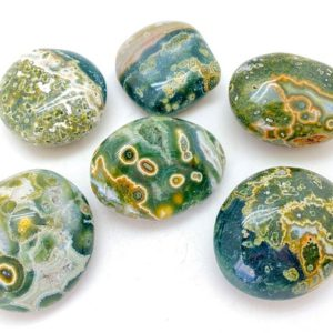 Ocean Jasper Stone – Palm Stones – Orbicular Jasper worry stone – Healing crystals and stones – Sea Jasper Stone Tumbled Stones | Natural genuine stones & crystals in various shapes & sizes. Buy raw cut, tumbled, or polished gemstones for making jewelry or crystal healing energy vibration raising reiki stones. #crystals #gemstones #crystalhealing #crystalsandgemstones #energyhealing #affiliate #ad