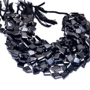 Shop Onyx Chip & Nugget Beads! Black Onyx Faceted 12mm-15mm Gemstone Nugget Beads | Black Onyx Step Cut Tumbled | Natural Semi Precious Gemstone Beads for Jewelry Making | Natural genuine chip Onyx beads for beading and jewelry making.  #jewelry #beads #beadedjewelry #diyjewelry #jewelrymaking #beadstore #beading #affiliate #ad