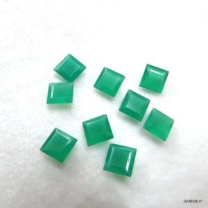 Shop Onyx Shapes! 5 pieces 10mm Green Onyx Faceted Square Step Cut loose Gemstone, GREEN ONYX Square Faceted step cut Gemstone, Onyx Square Faceted Gemstone | Natural genuine stones & crystals in various shapes & sizes. Buy raw cut, tumbled, or polished gemstones for making jewelry or crystal healing energy vibration raising reiki stones. #crystals #gemstones #crystalhealing #crystalsandgemstones #energyhealing #affiliate #ad