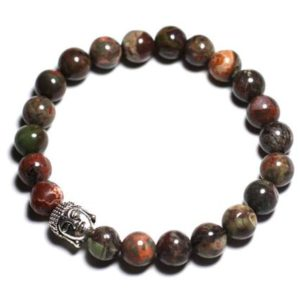Buddha and gemstone – Green Opal bracelet | Natural genuine Gemstone bracelets. Buy crystal jewelry, handmade handcrafted artisan jewelry for women.  Unique handmade gift ideas. #jewelry #beadedbracelets #beadedjewelry #gift #shopping #handmadejewelry #fashion #style #product #bracelets #affiliate #ad