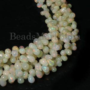 Shop Opal Bead Shapes! Natural Ethiopian Opal Drop Shape Gemstone Beads, Ethiopian Opal Tear Drop Beads, Ethiopian Opal Plain Drop Beads, Ethiopian Opal Beads | Natural genuine other-shape Opal beads for beading and jewelry making.  #jewelry #beads #beadedjewelry #diyjewelry #jewelrymaking #beadstore #beading #affiliate #ad
