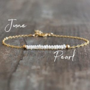 Shop Pearl Jewelry! Seed Pearl Bracelet, Pearl and Chain Bracelet, Real Pearl Bracelets for Women, June Birthstone, Freshwater Pearl Jewelry, Gold Filled | Natural genuine Pearl jewelry. Buy crystal jewelry, handmade handcrafted artisan jewelry for women.  Unique handmade gift ideas. #jewelry #beadedjewelry #beadedjewelry #gift #shopping #handmadejewelry #fashion #style #product #jewelry #affiliate #ad