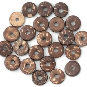 20pc – pearls Donuts coconut Rondelles 12mm Brown 4558550011237 | Natural genuine beads Gemstone beads for beading and jewelry making.  #jewelry #beads #beadedjewelry #diyjewelry #jewelrymaking #beadstore #beading #affiliate #ad