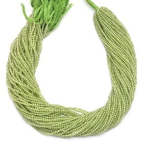 Shop Peridot Faceted Beads! AAA+ Peridot Micro Faceted 2mm-3mm Beads | 13inch Strand | Natural Peridot Semi Precious Gemstone Beads for Jewelry Making | Wholesale Price | Natural genuine faceted Peridot beads for beading and jewelry making.  #jewelry #beads #beadedjewelry #diyjewelry #jewelrymaking #beadstore #beading #affiliate #ad
