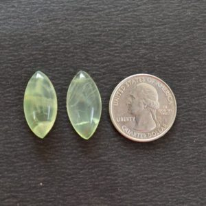 Shop Prehnite Cabochons! Prehnite Cabochons, Prehnite Matched Pairs Gemstone, Puffed Marquise Shape Cabochon, 2 Pieces Lot, Gemstone For Jewelry, 12x24mm #AR9927   Natural genuine stones & crystals in various shapes & sizes. Buy raw cut, tumbled, or polished gemstones for making jewelry or crystal healing energy vibration raising reiki stones. #crystals #gemstones #crystalhealing #crystalsandgemstones #energyhealing #affiliate #ad