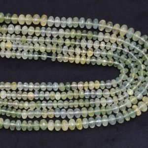 Shop Prehnite Faceted Beads! AAA Prehnite 6mm-8mm Faceted Rondelle Beads | 14inch Strand | Natural Multi Green Prehnite Semi Precious Gemstone Beads for Jewelry Making | Natural genuine faceted Prehnite beads for beading and jewelry making.  #jewelry #beads #beadedjewelry #diyjewelry #jewelrymaking #beadstore #beading #affiliate #ad