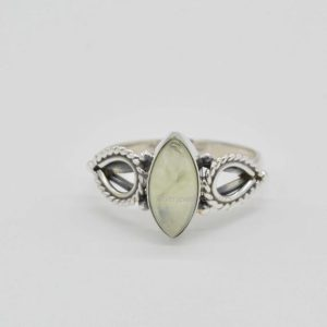 Shop Prehnite Rings! Natural Prehnite Ring, Statement Rings, Sterling Silver Rings, Women Rings, 6×12 mm Marquise Prehnite Ring, Prehnite Ring, Gemstone Ring | Natural genuine Prehnite rings, simple unique handcrafted gemstone rings. #rings #jewelry #shopping #gift #handmade #fashion #style #affiliate #ad