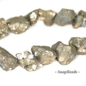 Shop Pyrite Chip & Nugget Beads! 6mm-5mm Palazzo Iron Pyrite Gemstone Pebble Nugget Loose Beads 15.5 inch Full Strand (90144864-412) | Natural genuine chip Pyrite beads for beading and jewelry making.  #jewelry #beads #beadedjewelry #diyjewelry #jewelrymaking #beadstore #beading #affiliate #ad