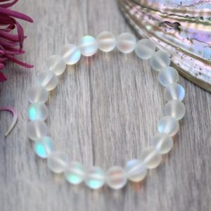 Shop Quartz Crystal Bracelets! ALL SIZES 6mm 8mm 10mm Custom Sizing Matte Mystic Angel Rainbow Aura Mermaid Quartz Bracelet | Natural genuine Quartz bracelets. Buy crystal jewelry, handmade handcrafted artisan jewelry for women.  Unique handmade gift ideas. #jewelry #beadedbracelets #beadedjewelry #gift #shopping #handmadejewelry #fashion #style #product #bracelets #affiliate #ad