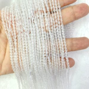 Shop Quartz Crystal Beads! Natural Rock Crystal Beads 2mm 3mm 4mm Faceted Beads Tiny Clear Quartz Beads Small Crystal Beads Tiny White Gemstone Bead Small Crystal Bead | Natural genuine beads Quartz beads for beading and jewelry making.  #jewelry #beads #beadedjewelry #diyjewelry #jewelrymaking #beadstore #beading #affiliate #ad
