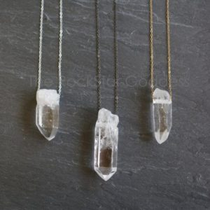 Shop Healing Gemstone & Crystal Pendants! Raw Quartz Necklace / Crystal Necklace / Quartz Necklace / Crystal Jewelry / Raw Quartz Jewelry / Raw  Quartz Pendant | Natural genuine Gemstone pendants. Buy crystal jewelry, handmade handcrafted artisan jewelry for women.  Unique handmade gift ideas. #jewelry #beadedpendants #beadedjewelry #gift #shopping #handmadejewelry #fashion #style #product #pendants #affiliate #ad
