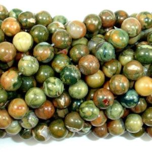 Shop Rainforest Jasper Beads! Rhyolite Beads, 6mm(6.5mm) Round Beads, 15.5 Inch, Full Strand, Approx 62 Beads, Hole 1 Mm, A Quality (387054001) | Natural genuine round Rainforest Jasper beads for beading and jewelry making.  #jewelry #beads #beadedjewelry #diyjewelry #jewelrymaking #beadstore #beading #affiliate #ad