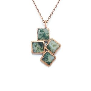 Shop Moss Agate Necklaces! Raw Moss Agate Necklace | Moss Agate Necklace | Moss Agate Pendant | Moss Agate Jewelry | Electroformed Necklace | Crystal Necklace | Boho | Natural genuine Moss Agate necklaces. Buy crystal jewelry, handmade handcrafted artisan jewelry for women.  Unique handmade gift ideas. #jewelry #beadednecklaces #beadedjewelry #gift #shopping #handmadejewelry #fashion #style #product #necklaces #affiliate #ad
