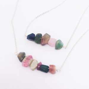 Shop Watermelon Tourmaline Necklaces! Raw Tourmaline Necklace, Turmalinkette, Layering Sterling Silver Necklace, Watermelon Tourmaline, October Birthstone, 8th Anniversary | Natural genuine Watermelon Tourmaline necklaces. Buy crystal jewelry, handmade handcrafted artisan jewelry for women.  Unique handmade gift ideas. #jewelry #beadednecklaces #beadedjewelry #gift #shopping #handmadejewelry #fashion #style #product #necklaces #affiliate #ad