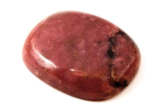 Rhodonite Cabochon Stone (23mm X 18mm X 6mm) 30cts - Rectangle Cabochon