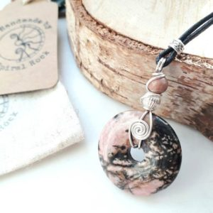 Shop Rhodonite Pendants! Rhodonite Crystal pendant layering Necklace, boho Stone Pendant talisman, protection Necklace natural womans Crystal Jewelry. | Natural genuine Rhodonite pendants. Buy crystal jewelry, handmade handcrafted artisan jewelry for women.  Unique handmade gift ideas. #jewelry #beadedpendants #beadedjewelry #gift #shopping #handmadejewelry #fashion #style #product #pendants #affiliate #ad