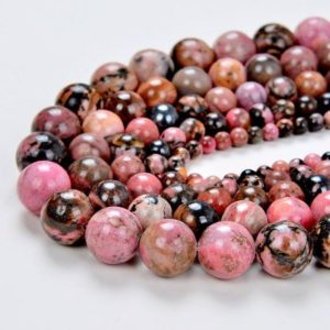 SALE PRICE + Free USA Ship Genuine Natural Haitian Flower Rhodonite Round Shape 4mm 6mm 8mm 10mm Grade Aa | Natural genuine beads Gemstone beads for beading and jewelry making.  #jewelry #beads #beadedjewelry #diyjewelry #jewelrymaking #beadstore #beading #affiliate #ad