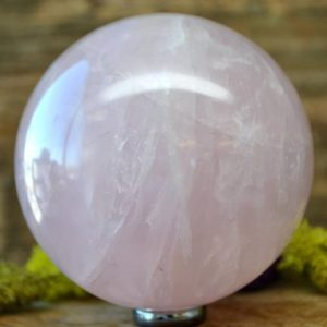 Shop Rose Quartz Shapes! Rose Quartz Crystal Sphere Ball –  1056.19   Natural genuine stones & crystals in various shapes & sizes. Buy raw cut, tumbled, or polished gemstones for making jewelry or crystal healing energy vibration raising reiki stones. #crystals #gemstones #crystalhealing #crystalsandgemstones #energyhealing #affiliate #ad
