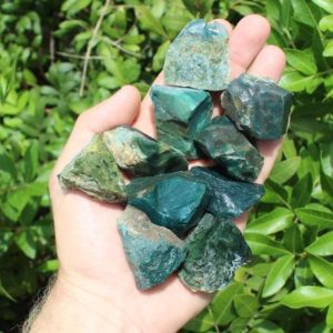 Rough Natural Moss Agate Stones: Choose How Many Pieces ('A' Grade, Raw Moss Agate, Rough Agate) | Natural genuine stones & crystals in various shapes & sizes. Buy raw cut, tumbled, or polished gemstones for making jewelry or crystal healing energy vibration raising reiki stones. #crystals #gemstones #crystalhealing #crystalsandgemstones #energyhealing #affiliate #ad