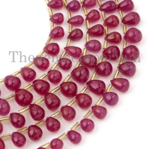 Natural Ruby Plain Drops Beads, High Quality Ruby Gemstone Beads, Ruby Tear Drop Beads, Smooth Drops Briolette Beads, Beads for Jewelry | Natural genuine other-shape Gemstone beads for beading and jewelry making.  #jewelry #beads #beadedjewelry #diyjewelry #jewelrymaking #beadstore #beading #affiliate #ad
