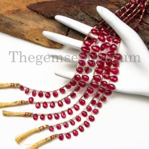 Shop Ruby Bead Shapes! Precious Top Quaity Ruby Smooth Pear Beads, Natural Ruby Beads, Ruby Pear Shape Beads, Amazing Smooth Pear Beads, Gemstone Beads, Plain Bead | Natural genuine other-shape Ruby beads for beading and jewelry making.  #jewelry #beads #beadedjewelry #diyjewelry #jewelrymaking #beadstore #beading #affiliate #ad