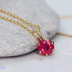 Shop Ruby Pendants! Ruby Necklace, Gold Ruby Pendant, Natural Ruby AAA, July Birthstone Necklace, Minimalist Genuine Ruby Pendant, Dainty Red Stone Necklace | Natural genuine Ruby pendants. Buy crystal jewelry, handmade handcrafted artisan jewelry for women.  Unique handmade gift ideas. #jewelry #beadedpendants #beadedjewelry #gift #shopping #handmadejewelry #fashion #style #product #pendants #affiliate #ad