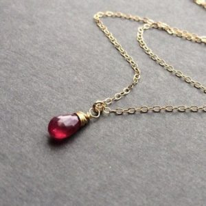 Shop Ruby Jewelry! Tiny Red Ruby pendant Necklace. Genuine Stone.  July birthstone gift. Minimalist. Delicate jewelry. Gold or Silver, Rose Gold. | Natural genuine Ruby jewelry. Buy crystal jewelry, handmade handcrafted artisan jewelry for women.  Unique handmade gift ideas. #jewelry #beadedjewelry #beadedjewelry #gift #shopping #handmadejewelry #fashion #style #product #jewelry #affiliate #ad