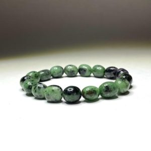 Shop Ruby Zoisite Bracelets! Ruby Zoisite Tumbled Bracelet | Natural genuine Ruby Zoisite bracelets. Buy crystal jewelry, handmade handcrafted artisan jewelry for women.  Unique handmade gift ideas. #jewelry #beadedbracelets #beadedjewelry #gift #shopping #handmadejewelry #fashion #style #product #bracelets #affiliate #ad