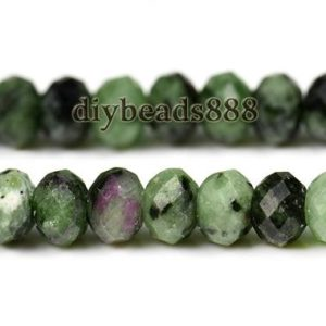 Shop Ruby Zoisite Faceted Beads! Ruby Zoisite,15 inch full strand Grade A natural Ruby Zoisite faceted rondelle beads,abacus beads,Multicolor 3x5mm,4x6mm,5x7mm for Choice | Natural genuine faceted Ruby Zoisite beads for beading and jewelry making.  #jewelry #beads #beadedjewelry #diyjewelry #jewelrymaking #beadstore #beading #affiliate #ad