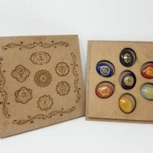 Shop Chakra Stone Sets! Sanskrit 7 Chakra Stone Set with Box | Shop jewelry making and beading supplies, tools & findings for DIY jewelry making and crafts. #jewelrymaking #diyjewelry #jewelrycrafts #jewelrysupplies #beading #affiliate #ad