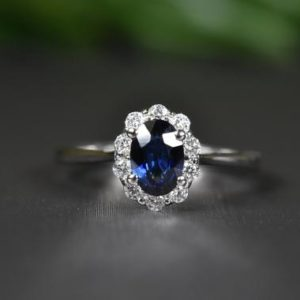 Shop Unique Sapphire Engagement Rings! Natural Sapphire and Diamond Ring in 14k Gold | Fine Jewelry | Sapphire Engagement Ring | Oval Sapphire Ring | Handmade sapphire ring | Natural genuine Sapphire rings, simple unique alternative gemstone engagement rings. #rings #jewelry #bridal #wedding #jewelryaccessories #engagementrings #weddingideas #affiliate #ad
