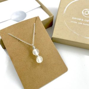 Shop Selenite Necklaces! Selenite Necklace, Tiny Crystal Necklace, Christmas gift | Natural genuine Selenite necklaces. Buy crystal jewelry, handmade handcrafted artisan jewelry for women.  Unique handmade gift ideas. #jewelry #beadednecklaces #beadedjewelry #gift #shopping #handmadejewelry #fashion #style #product #necklaces #affiliate #ad