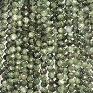Shop Seraphinite Beads! 2mm Genuine Russian Seraphinite Gemstone Grade AAA Green Micro Faceted Round Loose Beads 15.5 inch Full Strand (80006516-889) | Natural genuine faceted Seraphinite beads for beading and jewelry making.  #jewelry #beads #beadedjewelry #diyjewelry #jewelrymaking #beadstore #beading #affiliate #ad