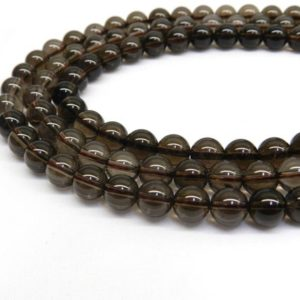 Smoky Quartz, Smoky Quartz Beads, Smokey Quartz Beads, 10mm Beads, 12mm Beads, 10mm Gemstone Beads, 12mm gemstone beads, Natural Stone | Natural genuine beads Smoky Quartz beads for beading and jewelry making.  #jewelry #beads #beadedjewelry #diyjewelry #jewelrymaking #beadstore #beading #affiliate #ad