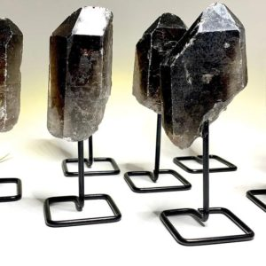 Shop Smoky Quartz Stones & Crystals! Smoky Quartz Point on Stand | Natural genuine stones & crystals in various shapes & sizes. Buy raw cut, tumbled, or polished gemstones for making jewelry or crystal healing energy vibration raising reiki stones. #crystals #gemstones #crystalhealing #crystalsandgemstones #energyhealing #affiliate #ad