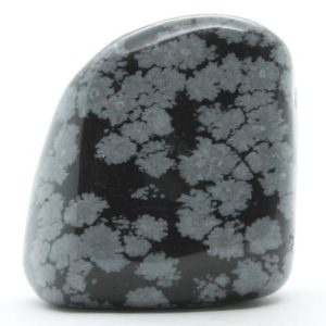 Shop Tumbled Snowflake Obsidian Crystals & Pocket Stones! Jumbo Snowflake Obsidian Tumbled Stone, Obsidian Tumbled Stone, Crystals Snowflake Obsidian, Minerals Snowflake Obsidian Tumbled Stone | Natural genuine stones & crystals in various shapes & sizes. Buy raw cut, tumbled, or polished gemstones for making jewelry or crystal healing energy vibration raising reiki stones. #crystals #gemstones #crystalhealing #crystalsandgemstones #energyhealing #affiliate #ad