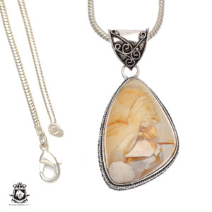 Shop Mookaite Pendants! So Creamy! Australian Brecciated Mookaite Pendant 4mm Snake Chain V695 | Natural genuine Mookaite pendants. Buy crystal jewelry, handmade handcrafted artisan jewelry for women.  Unique handmade gift ideas. #jewelry #beadedpendants #beadedjewelry #gift #shopping #handmadejewelry #fashion #style #product #pendants #affiliate #ad