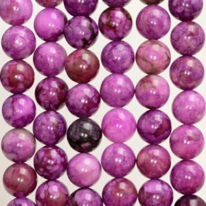 6mm Sugilite Gemstone Light Purple Violet Round Loose Beads 15.5 inch Full Strand (90184554-842) | Natural genuine round Sugilite beads for beading and jewelry making.  #jewelry #beads #beadedjewelry #diyjewelry #jewelrymaking #beadstore #beading #affiliate #ad
