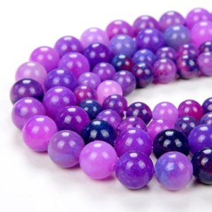 Shop Sugilite Beads! Sugilite Gemstone Pink Purple Grade AAA Round 6MM 8MM Loose Beads BULK LOT 1,2,6,12 and 50 (D21) | Natural genuine round Sugilite beads for beading and jewelry making.  #jewelry #beads #beadedjewelry #diyjewelry #jewelrymaking #beadstore #beading #affiliate #ad