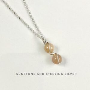 Shop Sunstone Pendants! Sunstone Necklace, Tiny pendant, Sterling Silver, Crystal necklace | Natural genuine Sunstone pendants. Buy crystal jewelry, handmade handcrafted artisan jewelry for women.  Unique handmade gift ideas. #jewelry #beadedpendants #beadedjewelry #gift #shopping #handmadejewelry #fashion #style #product #pendants #affiliate #ad