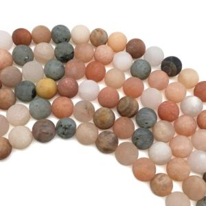 Shop Sunstone Round Beads! 8mm Matte Sunstone Beads, Orange Sunstone Beads, Round Gemstone Beads, Wholesale Beads | Natural genuine round Sunstone beads for beading and jewelry making.  #jewelry #beads #beadedjewelry #diyjewelry #jewelrymaking #beadstore #beading #affiliate #ad