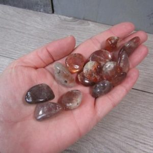 Shop Tumbled Sunstone Crystals & Pocket Stones! Gemmy Sunstone Small Tumbled Stone T174 | Natural genuine stones & crystals in various shapes & sizes. Buy raw cut, tumbled, or polished gemstones for making jewelry or crystal healing energy vibration raising reiki stones. #crystals #gemstones #crystalhealing #crystalsandgemstones #energyhealing #affiliate #ad