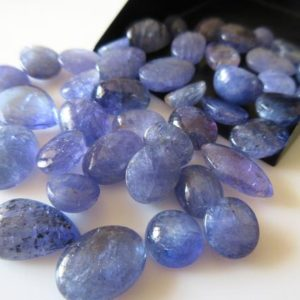 Shop Tanzanite Stones & Crystals! 5 Pieces 8mm To 14mm Each Natural Tanzanite Smooth Mixed Shaped Cabochon Lot SKU-RCL1 | Natural genuine stones & crystals in various shapes & sizes. Buy raw cut, tumbled, or polished gemstones for making jewelry or crystal healing energy vibration raising reiki stones. #crystals #gemstones #crystalhealing #crystalsandgemstones #energyhealing #affiliate #ad