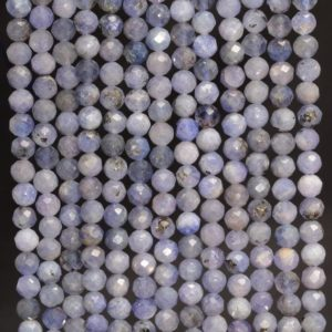 Genuine Tanzanite Gemstone Blue Grade AA Micro Faceted Round 3mm 4mm Loose Beads (A260) | Natural genuine beads Array beads for beading and jewelry making.  #jewelry #beads #beadedjewelry #diyjewelry #jewelrymaking #beadstore #beading #affiliate #ad