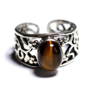 Shop Tiger Eye Rings! N224 – 9x7mm oval Tiger eye – stone and 925 sterling silver ring   Natural genuine Tiger Eye rings, simple unique handcrafted gemstone rings. #rings #jewelry #shopping #gift #handmade #fashion #style #affiliate #ad