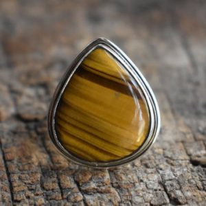 Shop Tiger Eye Rings! tiger eye stone ring,natural tiger eye gemstone ring,925 silver ring,tiger eye gemstone ring   Natural genuine Tiger Eye rings, simple unique handcrafted gemstone rings. #rings #jewelry #shopping #gift #handmade #fashion #style #affiliate #ad