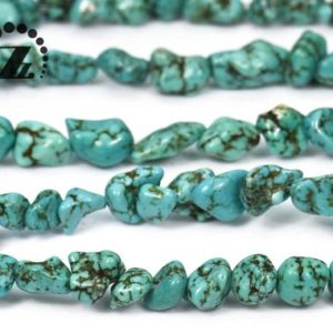 """Shop Turquoise Chip & Nugget Beads! Green Turquoise nugget bead,chip bead,Freeform beads,Irregular beads,Turquoise,5-8×7-10mm,15"""" full strand 