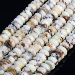 Shop Turquoise Faceted Beads! Genuine Natural Australia Turquoise Loose Beads Brown White Faceted Rondelle Shape 8x4mm 10x5mm | Natural genuine faceted Turquoise beads for beading and jewelry making.  #jewelry #beads #beadedjewelry #diyjewelry #jewelrymaking #beadstore #beading #affiliate #ad
